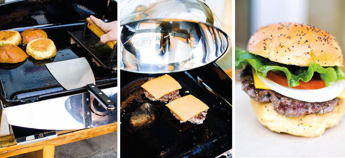 Cook with plancha