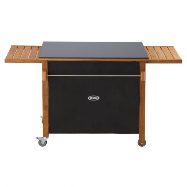 Emile black hlp and wood table