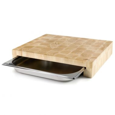 Cutting board with gastro tray